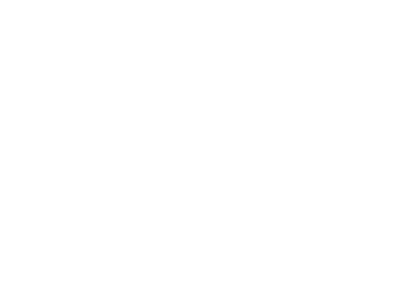 "Item:	Door 001 Country:	Nigeria People:	Nupe Size:	18 x 93"" /"